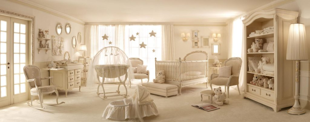 elegant-baby-room-furniture-ideas-in-modern-style-as-well-lamp-standing-beside-wardrobe-also-round-mirror-and-frame-on-the-wall-decoration-nursery-room-frame-ideas